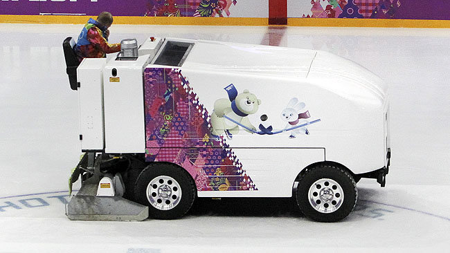 A Zamboni driver in Fargo, N.D., was arrested for drunk driving during a high school hockey game. (QMI Agency file photo)