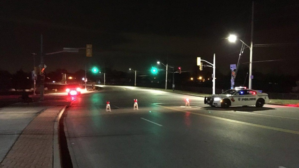 Police closed McHugh Street between Lauzon Road and Clover Street in Windsor, Ont., on Monday, Nov. 20, 2017. (Kimberley Johnson / AM800)